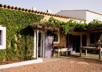 entering the property villa casanita, the best destination for luxury holidays in formentera