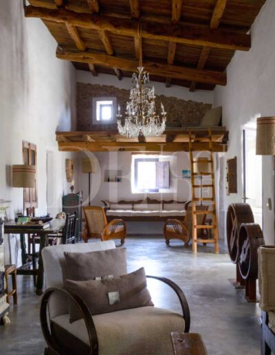inside details of the living room of villa casanita, a luxury property perfect for enjoying the best formentera has to offer