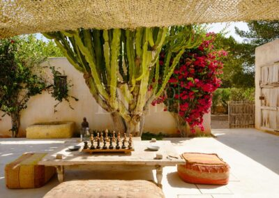 sitting and chilling area in villa casanita, a luxury property for rent in the amazing formentera island