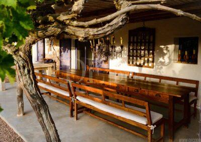 dinner on the terrace of villa casanita, luxury property for rent in sant Francesc area in formentera