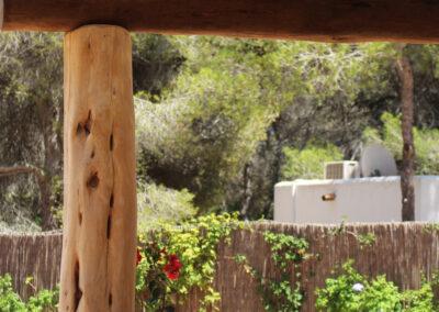 patio details in the wild nature of formentera of villa sueño in la mola