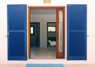 luxury villa sueño entrance in la mola formentera