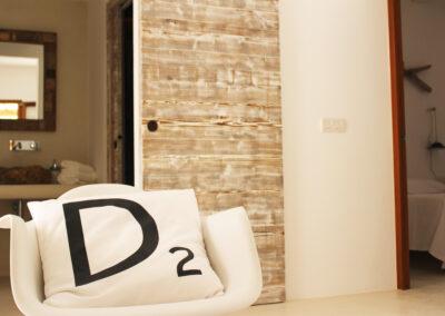 glamorous details of doors of bedrooms and toilet of villa sueño in formentera