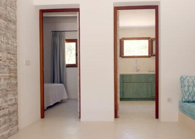 doors from leaving room in formentera villa sueño