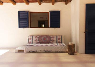 pretty outdoor sofa in the private villa sueño formentera