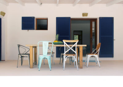 back porch for relaxing dinners in villa sueño formentera