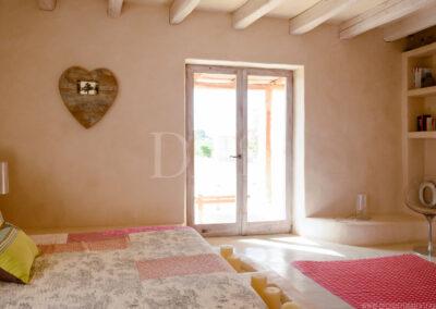 second bedroom details in classy villa Barbara for luxury holidays in formentera
