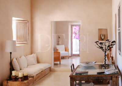 studying and working area in villa Barbara, a typical property for rent in formentera
