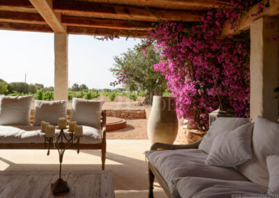 luxury outdoor terrace in villa Barbara, where summer holidays are well spent
