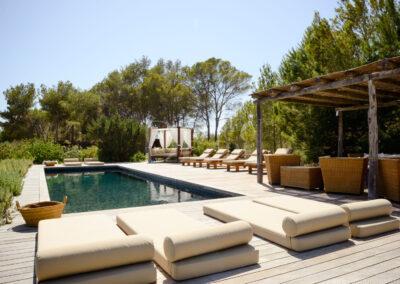 first shot of this cristalline pool in villa Barbara, luxury summer rental in formentera balearics island