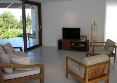 very nice tv room at the villa es vedra in formentera