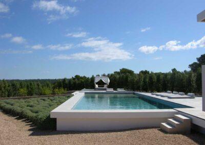 magnificent swimming pool view of Villa es vedra in formentera