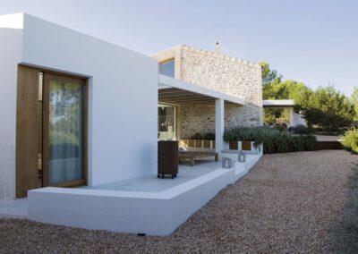 luxury entrance of Villa es vedra in formentera