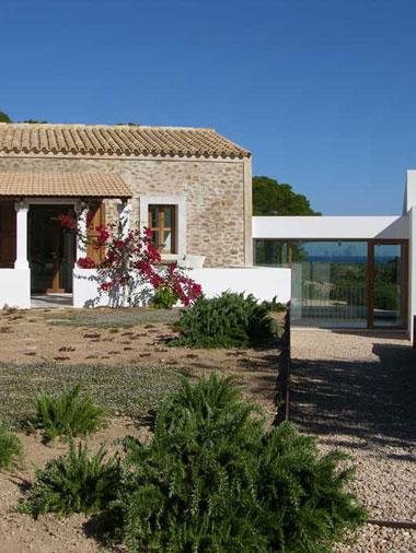 villa es vedra entrance with garden view