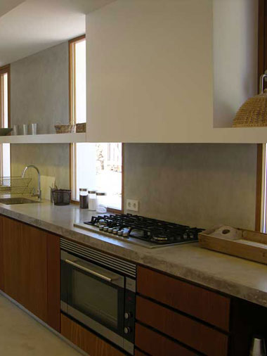 details of the kitchen at villa es vedra