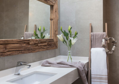 bathroom and toilet of luxury villa Soleil for rent in formentera