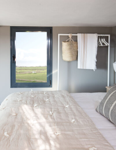 main bedroom in the charming villa Soleil for rent in formentera