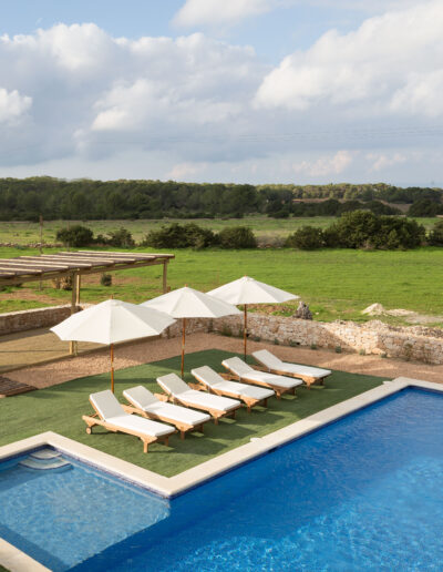 green nature on the outdoors of luxury villa Soleil for rent in la mola formentera
