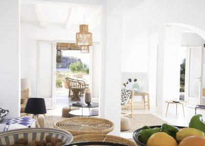 luxury living room in finca villa om